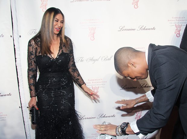 Pharrell Williams and Tina Knowles