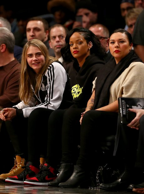 Rihanna and Cara Delevingne Basketball
