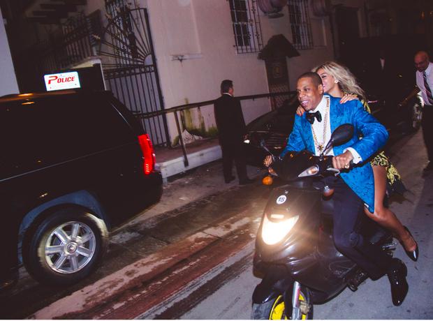 Beyonce Jay X motorbike