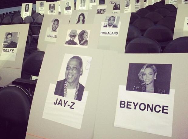 Grammys seating plan