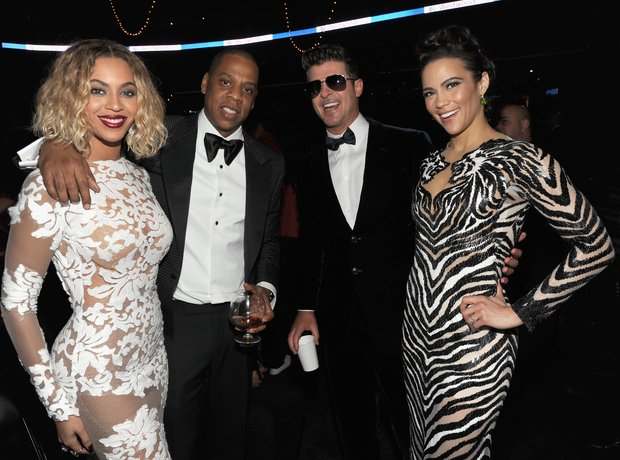 Beyonce, Jay-Z, Robin Thicke and Paula Patton