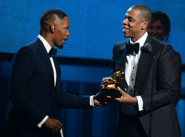 Jamie Foxx and Jay Z Grammy Award 2014