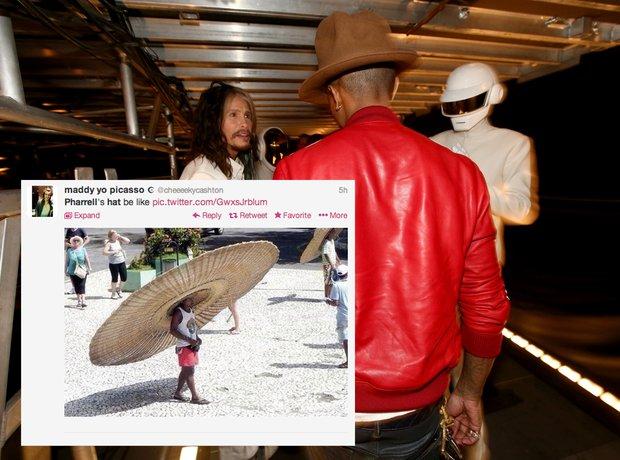 Pharrell Grammys Hat Gallery XTRA
