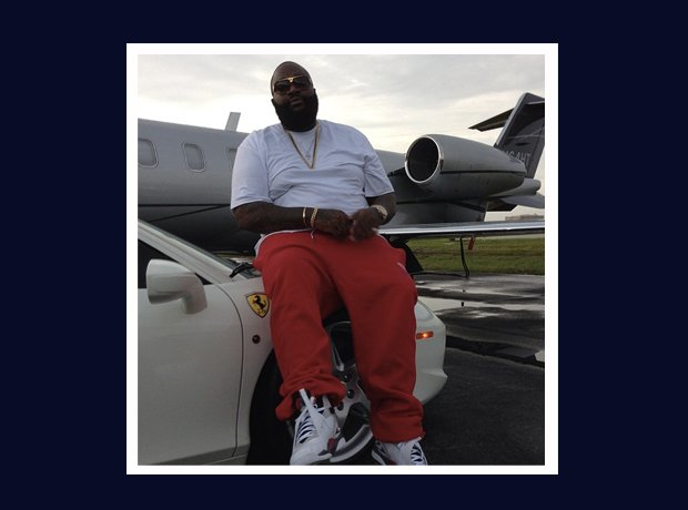 Rick Ross Instagram car and airplane