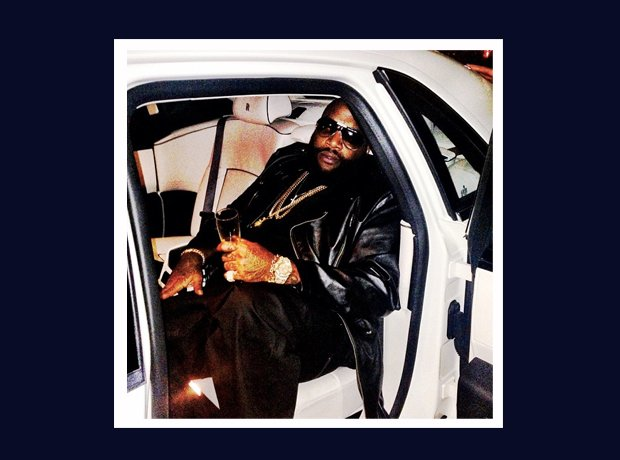 Rick Ross Instagram in car