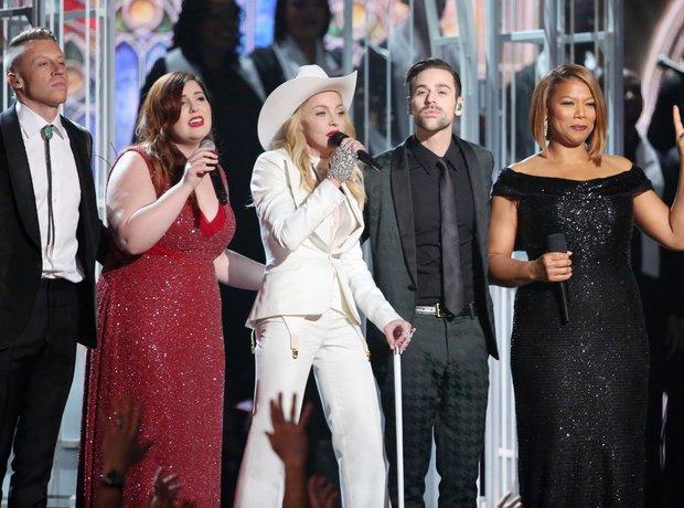 Ryan Lewis and Macklemore live at the Grammy Award