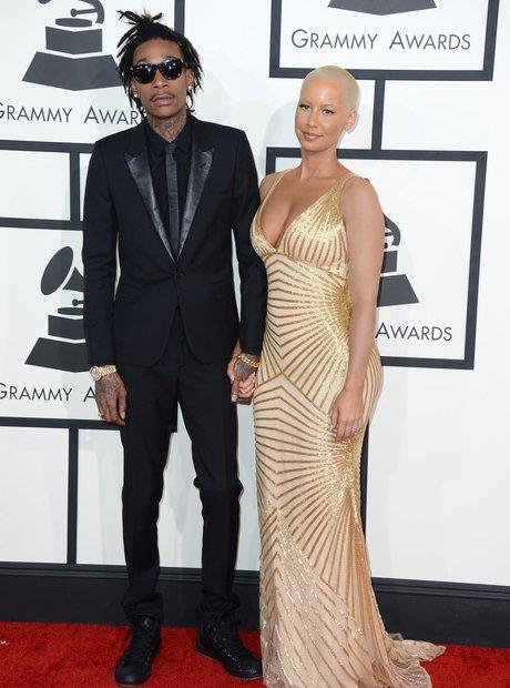 Wiz Khalifa and Amber Rose at the Grammy Awards 20