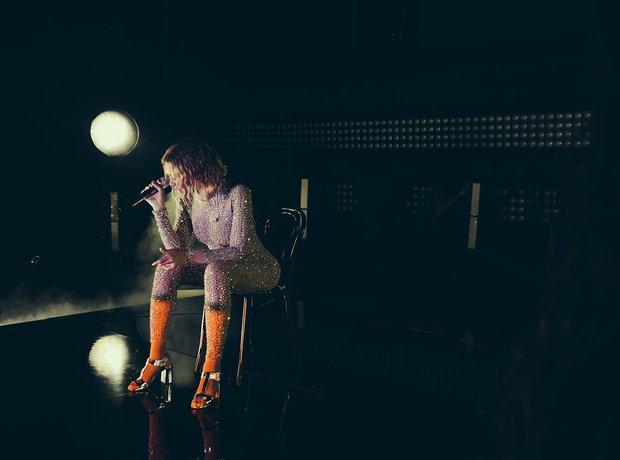 Beyonce Grammy Rehearsals