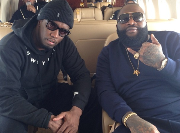 P Diddy and Rick Ross on plane