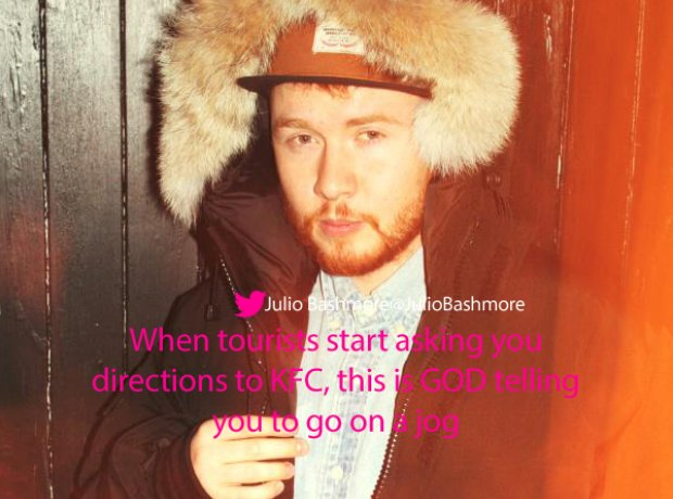 Julio Bashmore twitter tourists KFC