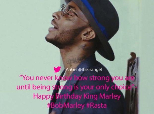 Angel Twitter Bob Marley quote