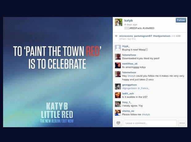 Katy B Little Red Instagram