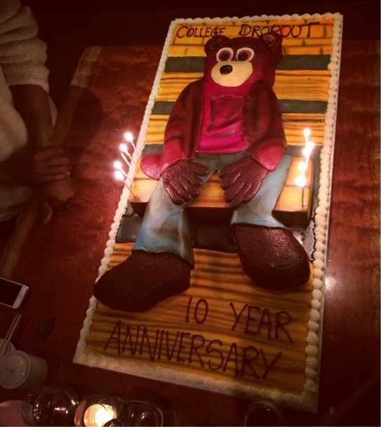 The College Dropout anniversary cake