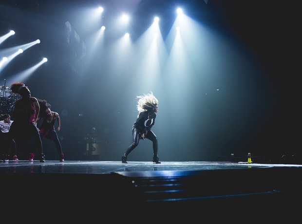 Beyonce rehearsing for Mrs Carter Tour