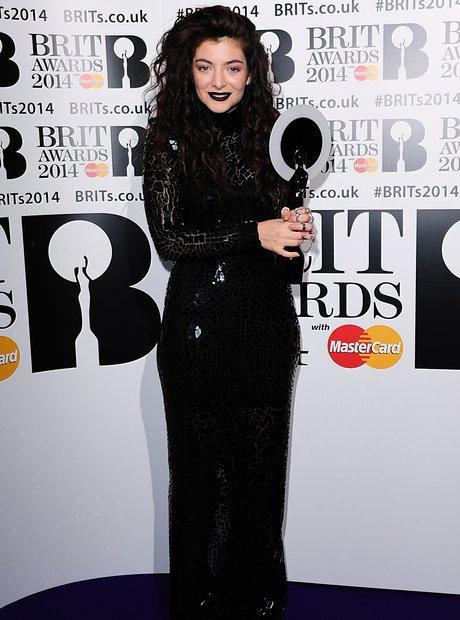 Lorde BRIT Awards 2014 Backstage