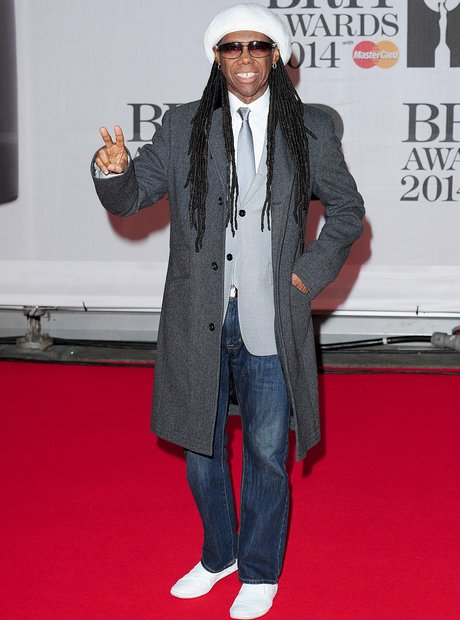 Nile Rodgers at the Brit Awards 2014