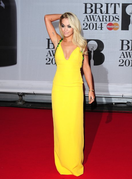 Rita Ora BRIT Awards 2014 Red Carpet