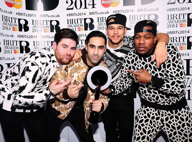 Rudimental BRIT Awards 2014 Backstage