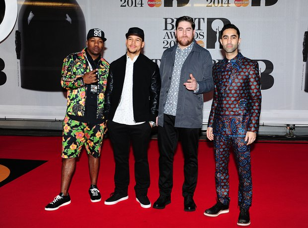 Rudimental BRIT Awards 2014 Red Carpet