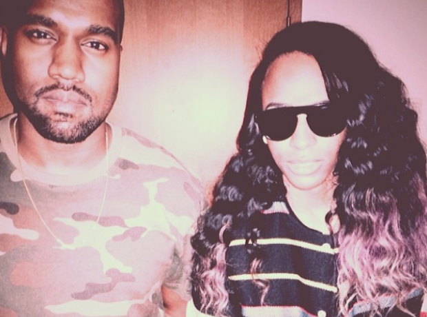 Kanye West and Angel Haze