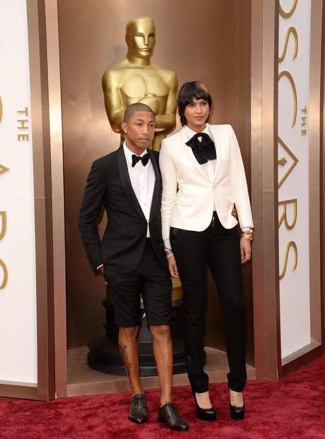 Pharrell Williams And Helen Lasichanh Oscars 2014