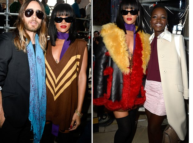 Rihanna With Lupita and Jared Leto Paris Fashion W