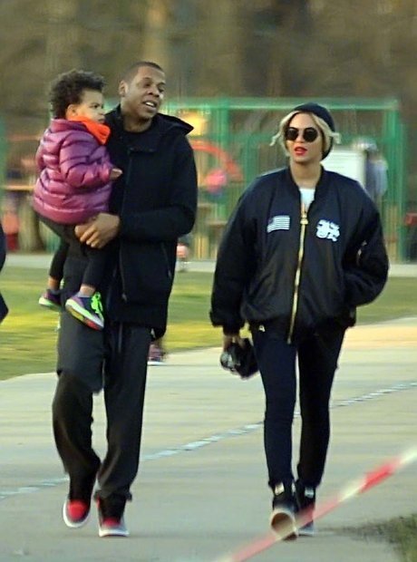Jay Z, Blue Ivy and Beyonce in Dublin