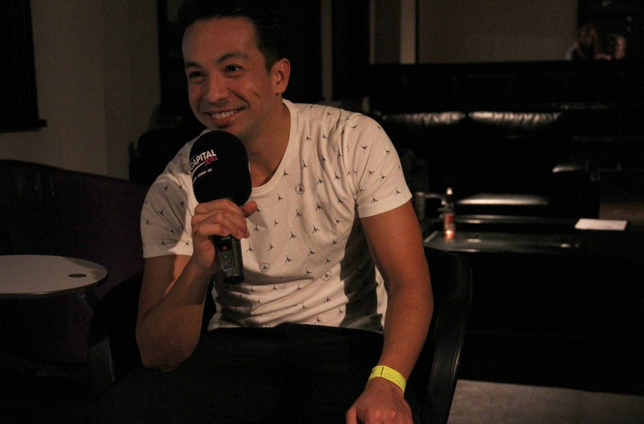 Laidback Luke backstage at the Victoria Warehouse