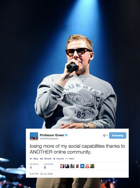 Professor Green first tweet