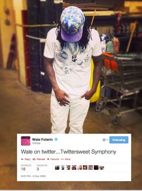 Wale first tweet
