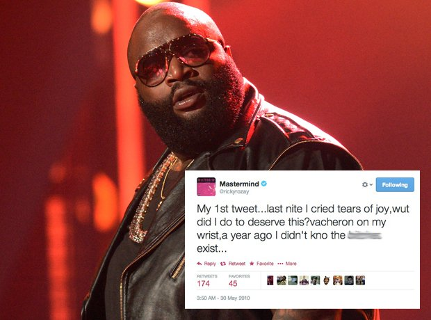 Rick Ross first tweet