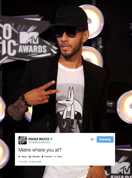 Swizz Beatz first tweet