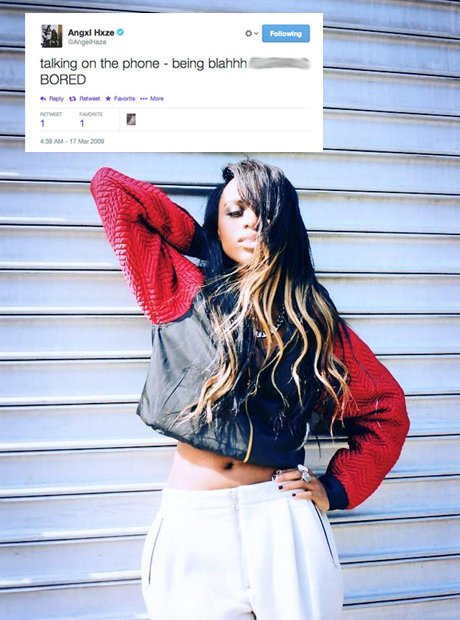 Angel Haze first tweet