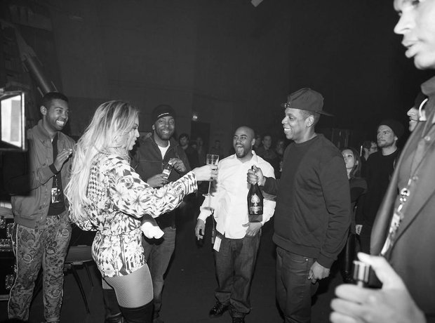 Beyonce and Jay Z Champagne