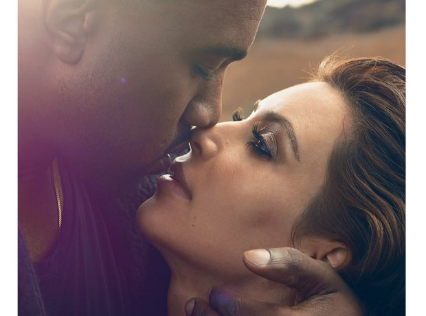 Kanye West and Kim Kasdashian in Vogue Magazine