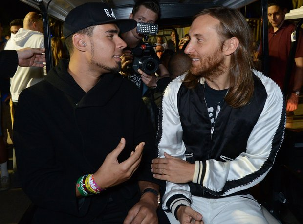 Afrojack and David Guetta at the Ultra Music Festi