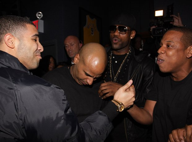 Drake, 'OG' Juan Perez, LeBron James, and Jay-Z