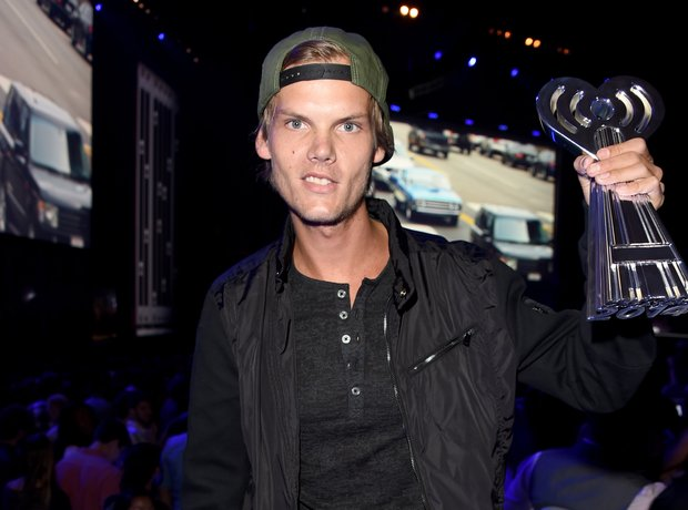 Avicii backstage at the 2014 iHeartRadio Music Awa
