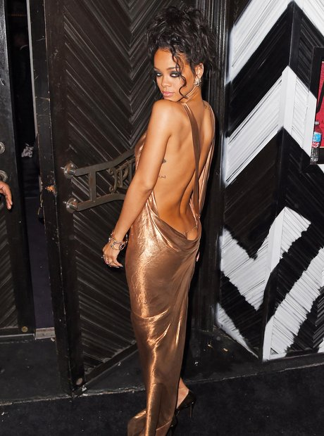 Rihanna backless dress Met aftershow party