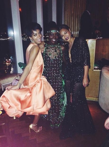 Solange Beyonce lupita nyong'o Met Gala 2014