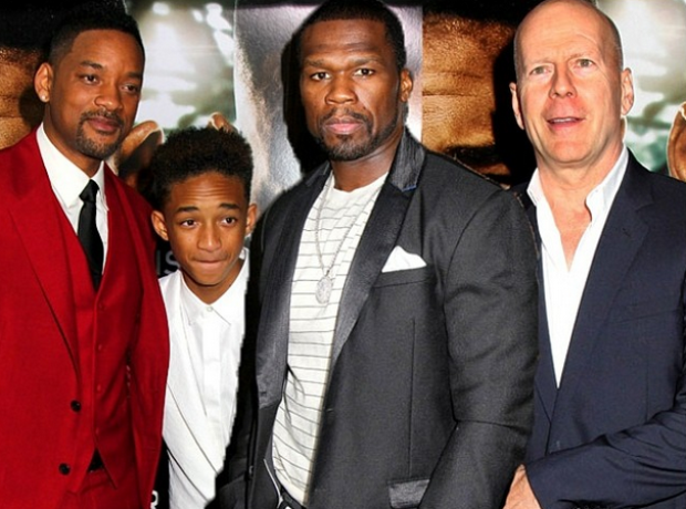 50 CENT Will Smith Jayden Smith Bruce Willis