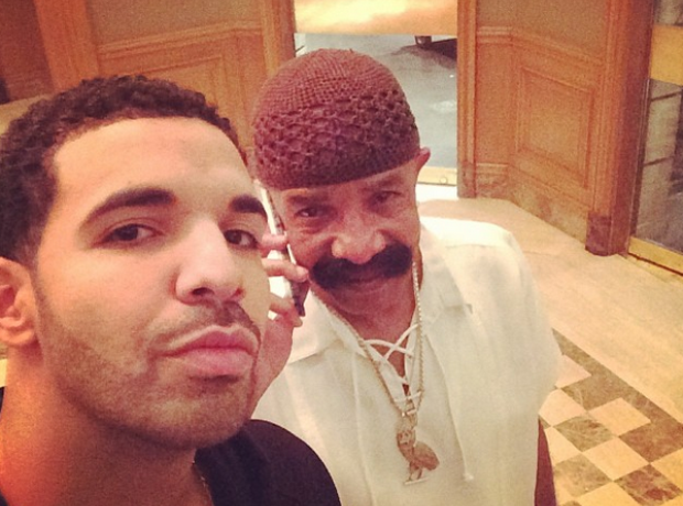 Drake and his dad selfie Instagram