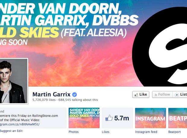 Martin Garrix Facebook