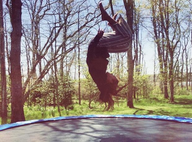 Beyonce Trampoline instagram