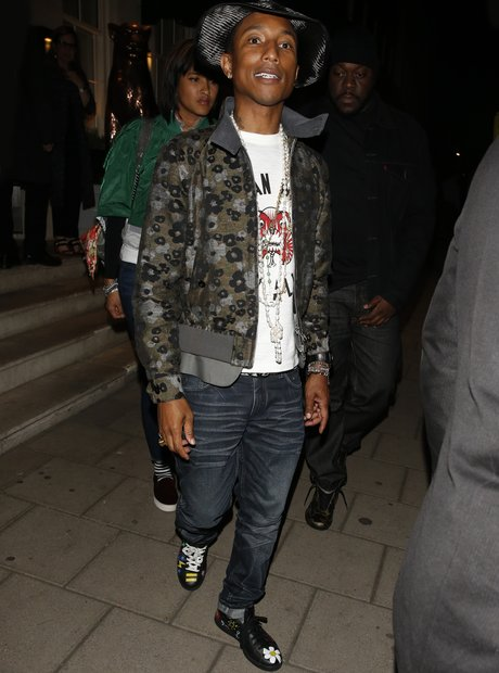 Pharrell having dinner in London