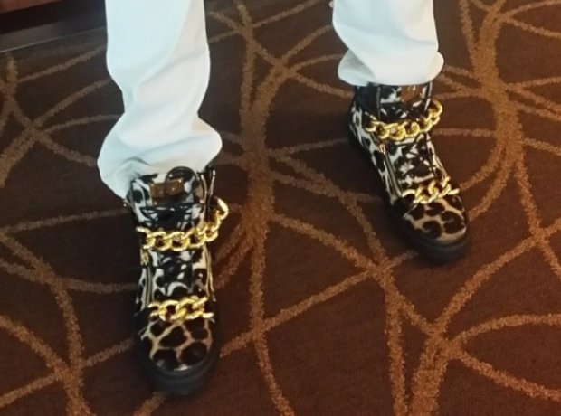 2 Chainz leopard print shoes