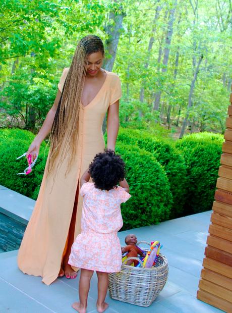 Beyonce braids Blue Ivy