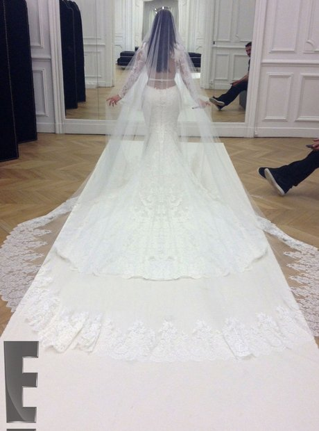 Kanye west and kim kardashian wedding new official photos from the heres a close up look at kims wedding dress junglespirit Images