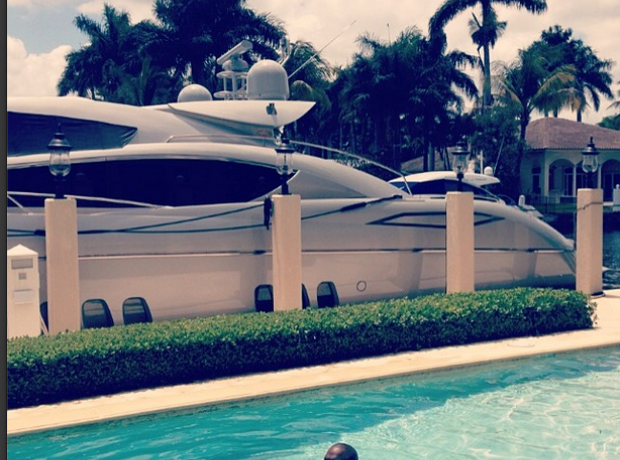 Rick Ross swimming Instagram