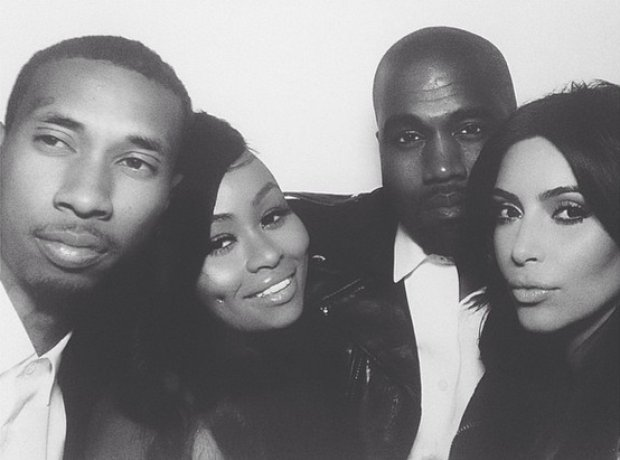 Kanye West And Kim Kardashian first official picture with Tyga